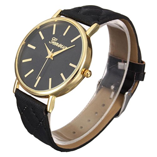 Women Watches Xjp Beilaeufige Analoge Quarz Leder Buegel Armbanduhr mit Edelstahl Fall
