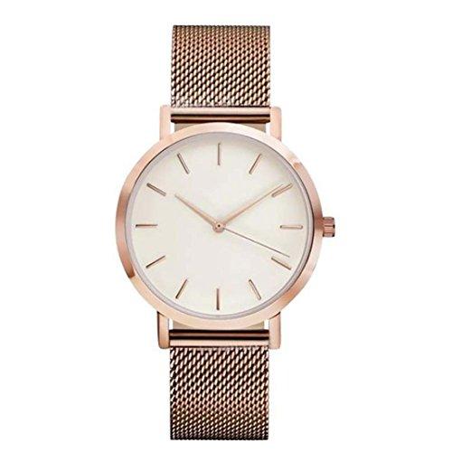 Wrist Watches Rose Gold Xjp Casual Stainless Steel Analog Quartz Womens Watch Bracelet