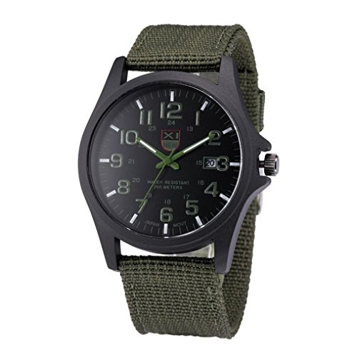 Mens Watches Xjp Casual Wristwatch with Hook Buckle Quartz Analog Watches Canvas Strap