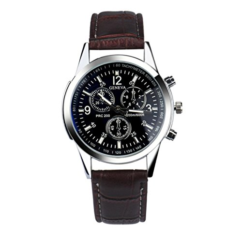 Mens Watches Xjp Casual and Fashion Quartz Analog Wristwatches with Faux Leather Watch Band