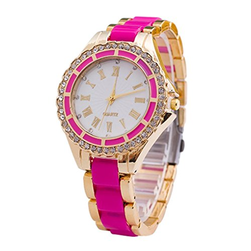 Womens Watches Xjp Casual Roman Numerals Stainless Steel Band Wristwatch