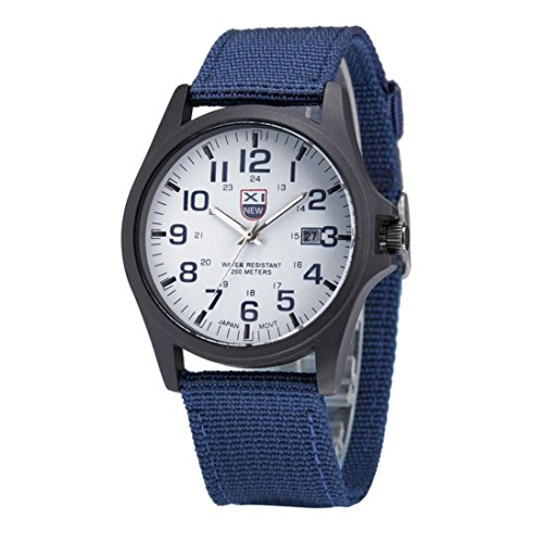 Mens Watches Xjp Outdoor Casual Wristwatch with Hook Buckle Quartz Analog Watches