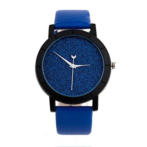 Womens Wristwatch Xjp Minimalistische Casual Uhren Lederarmband fuer Liebhaber