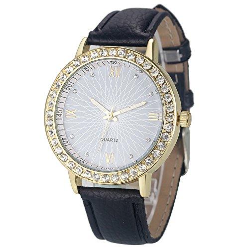 Wristwatches for Female Xjp Kurz und Vogue Analoge mit Hakenschnalle Lederband
