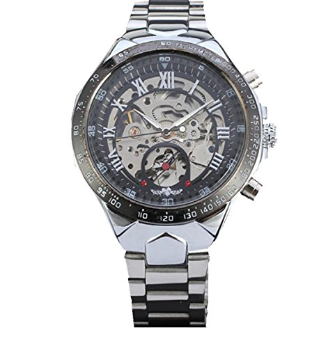 Mens Wristwatches Xjp Automatic Mechanical Stainless Steel Watches Silver