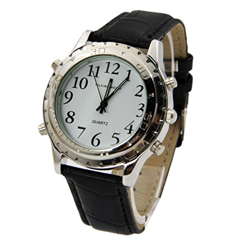 Mens Wristwatches Xjp Mechanical Roman Numerals Watch with Talking Clock Function