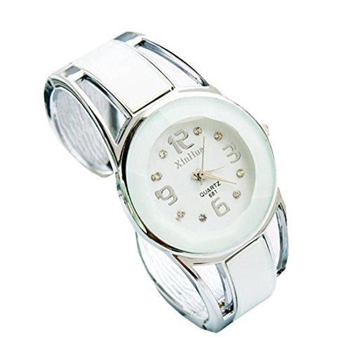 Xjp Casual Womens Watches Bracelet Alloy Band Analog Quartz Wristwatch Gifts White