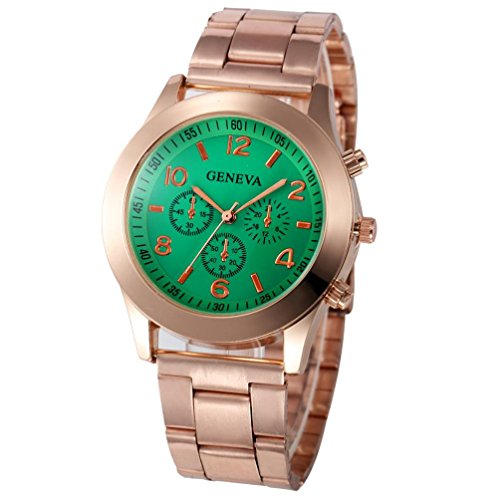 Xjp Casual Womens Watches Precise Quartz Analog Watches with Stainless Steel Band Mint Green