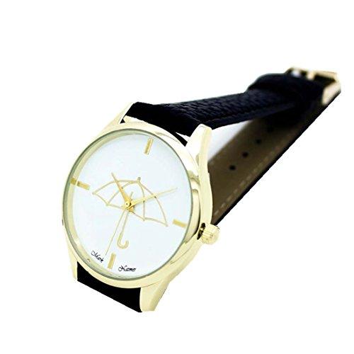 Xjp Fashion Womens Watches Bracelet Analog Quartz Wristwatch with Umbrella Pattern Dial