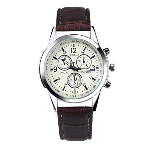 Xjp Casual und Mode Quarz mit Faux Leder Uhrenarmband Kaffee