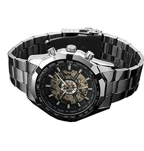Watches for Men Xjp Dial Stainless Steel Automatic Mechanical Wristwatch