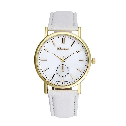 Xjp Unisex Uhren Analog Quartz Lederband Armbanduhren