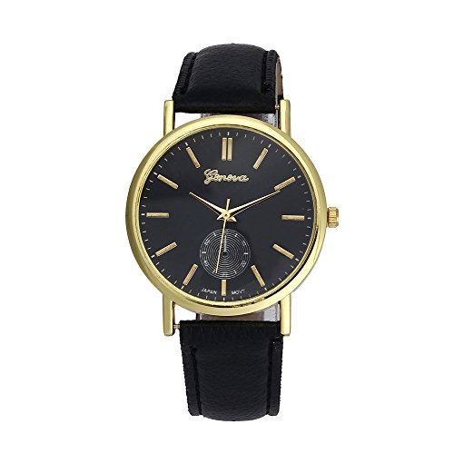 Xjp Unisex Watches Analog Quartz Leather Band Wristwatches