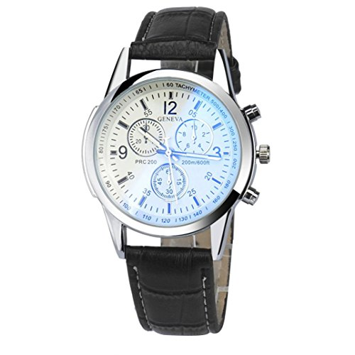 Xjp Mens Watches Casual and Fashion Quartz Analog Wristwatches with Faux Leather Watch Band