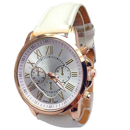 Xjp Womens Watches Roman Numerals Analog Quartz Wrist Watch Faux Leather Strap
