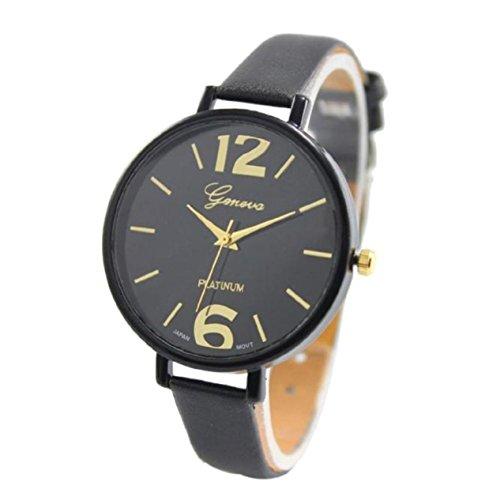 Xjp Womens Watches with Analog Quartz Wristwatch Leather Strap 18 CM
