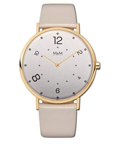 Modern Basic 41 - Uhr - goldfarbenbeige