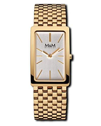 M&M Damenuhr Edelstahlband M11902-232 Rollband Gold plattiert 229