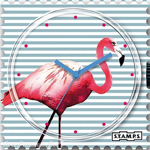 S T A M P S Stamps Uhr Zifferblatt Pink Flamingo 103760