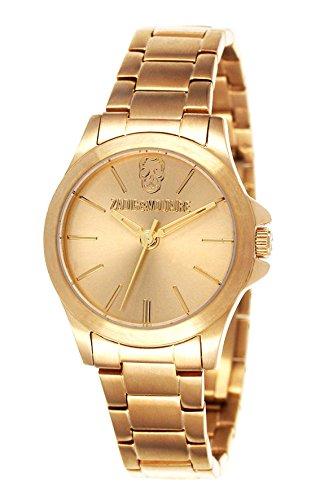 Zadig Voltaire Damen Armbanduhr Dainty Analog Quarz Gold ZV 121 1EM