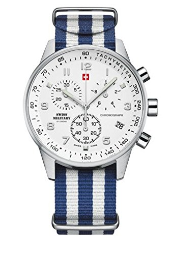 SWISS MILITARY by CHRONO Chronograph ARENA weiss 41 mm