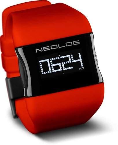 Neolog OS OLED Chilli Red Digitaluhr fuer Herren 3 Anzeigeoptionen