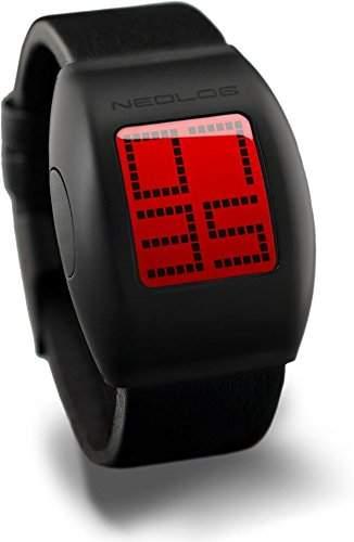 Neolog Unisex-Armbanduhr A24+ Red Lederarmband LCD Digital Quarz