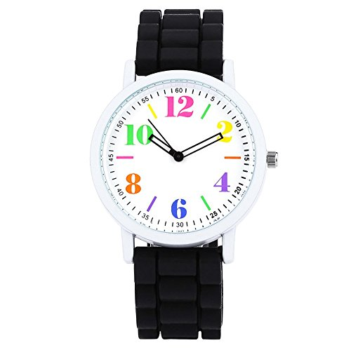 Leopard Shop xinew 1021 Frauen Pinky Farbe Silikon Gurt Jelly armbanduhr Colormix