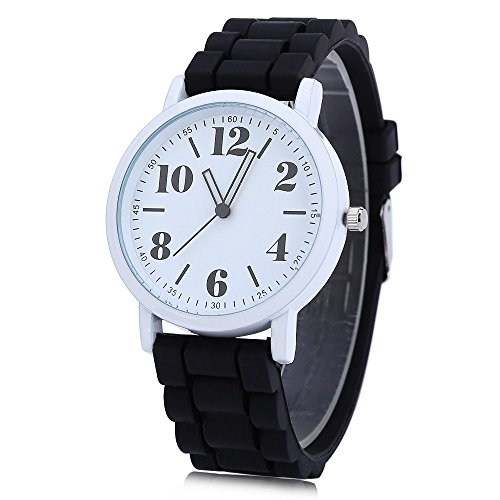 Leopard Shop xinew 1021 Frauen Pinky Farbe Silikon Strap Jelly armbanduhr schwarz
