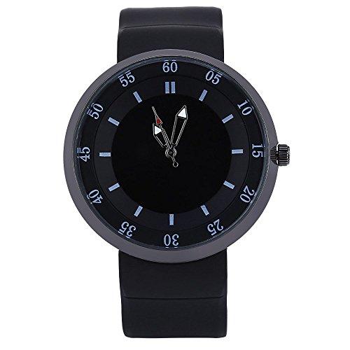 Leopard Shop xinew 2138 Herren Wasser Widerstand Analog Display Armbanduhr Schwarz