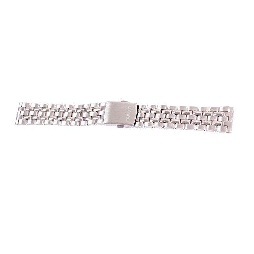 ygdz 20 mm Edelstahl Watch Band Massiv links Farbe Silber