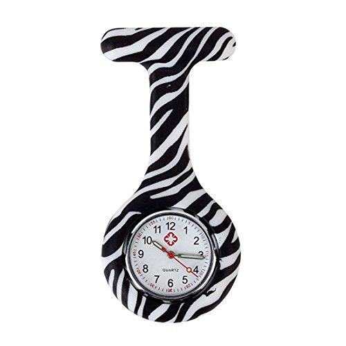 Trillycoler Mode Silikon Krankenschwesteruhr Medizinische FOB Uhr Taschenuhr Ketteuhr 5
