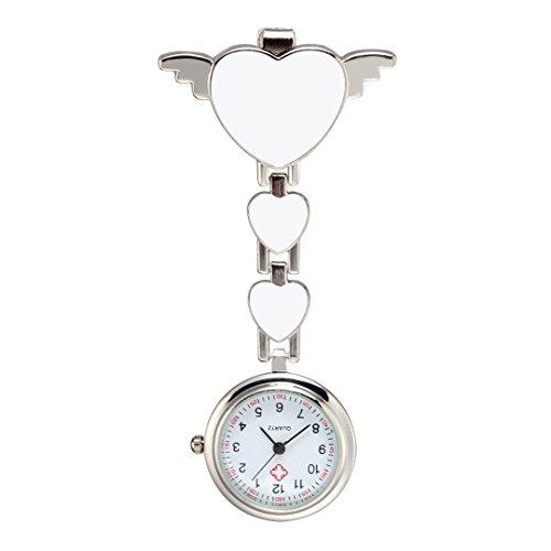 Trillycoler Huebsch Liebe Herz Quarz Vorhaenger Brosche Krankenschwester Taschenuhr