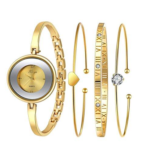 Sunward Golden Serie 587 Frauen Gold Strass Armreif und Armband Set
