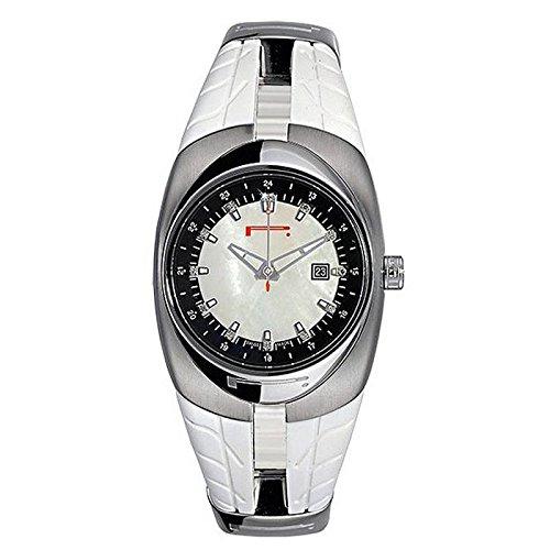 Uhr Pirelli Damen 7951101855 Quarz Batterie Stahl Quandrante Perlmutt Armband Gummiarmband