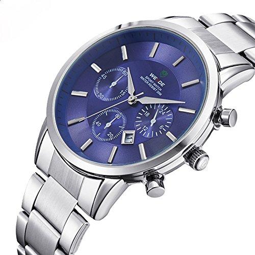 ufengke laessig 30 m wasserdicht handgelenk armbanduhren fuer maenner luxuskalender armbanduhren blau dekorative kleine Zifferblaetter