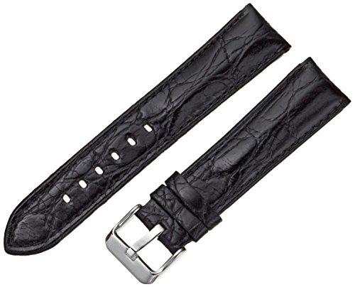 Tech Swiss lea330 Kristallgroesse SS20 20 mm Leder Uhrenarmband Kalbsleder schwarz