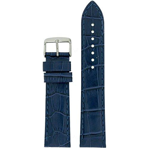 Tech Swiss lea1830 22 Armbanduhr Band Blau Leder Krokodil Korn