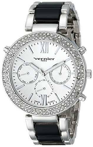 Vernier Paris Damen vnrp11171ss Analog Display Swiss Quarz Zweifarbige Armbanduhr