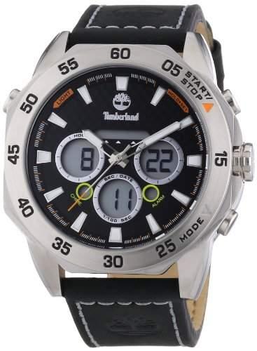 Timberland Herren-Armbanduhr XL Thorndike Chrono Analog - Digital Quarz Leder TBL14115JS02