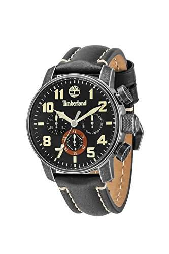 Timberland Herren-Armbanduhr Chronograph Quarz Leder 14439JSQ02