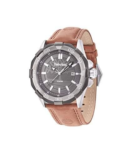 Timberland Herren-Armbanduhr Analog Quarz Leder 14098JSTU61