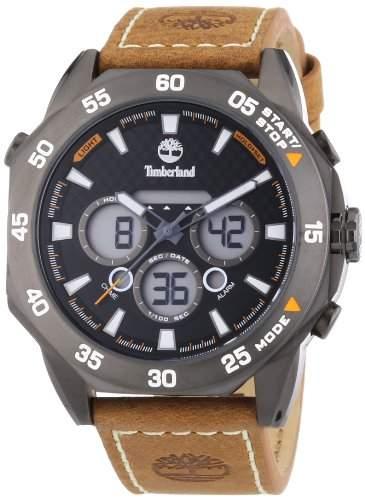 Timberland Herren-Armbanduhr XL Thorndike Chrono Analog - Digital Quarz Leder TBL14115JSU02