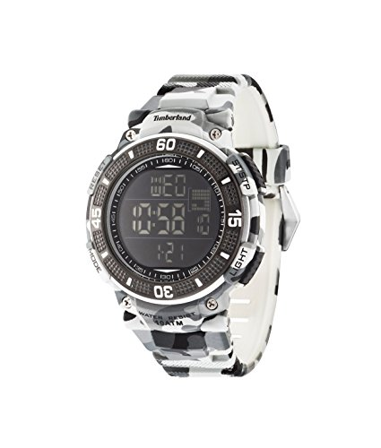 Timberland Cadion MenDigital Uhr schwarzes Zifferblatt Digital Quarz Silikon 13554JPGY 02