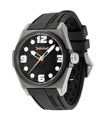 Timberland Radler Herren Armbanduhr 42mm Armband Silikon Schwarz Gehaeuse Edelstahl Quarz TBL 13328JPGYB 02
