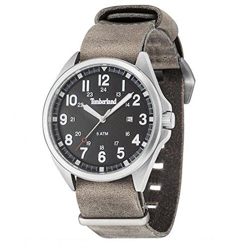 Uhr TIMBERLAND Raynham TBL 14829js 02 Quarz Batterie Stahl Quandrante schwarz