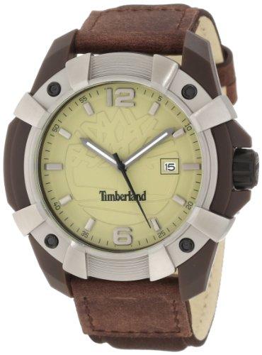 Timberland Watches 13326jpbns 07 Chocorua Herren Braun Leder Armband Uhr Nylon