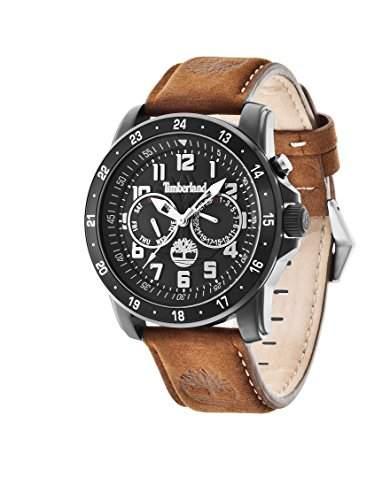 Timberland Herren-Armbanduhr XL Bellamy Multifunktion Analog Quarz Leder TBL14109JSB02