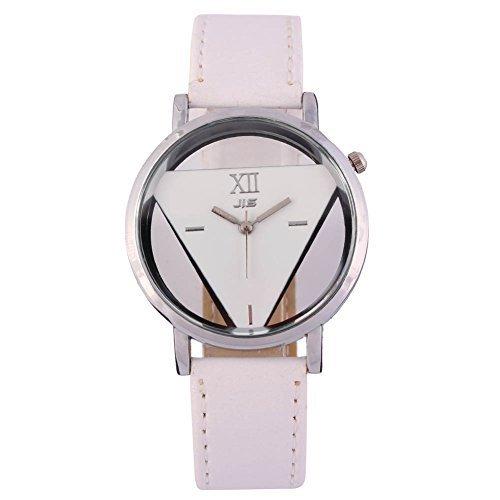 Damen Armbanduhr Damenuhr Analog Quarzuhr Paare Uhr Weiss