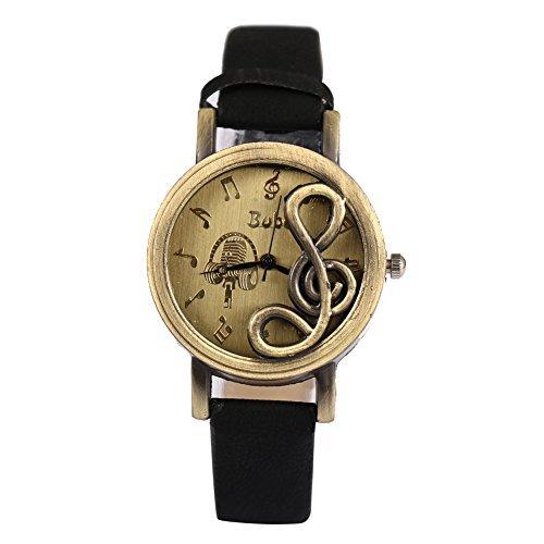 Damen Armbanduhr mit Kasten Analog PU Lederarmband Uhr
